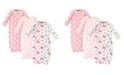 Touched by Nature Baby Girl Kimono Gowns, Set of 3