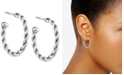 American West Small Twist Hoop Earrings in Sterling Silver, 1""