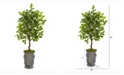 Nearly Natural 41in. Ficus Artificial Tree in Vintage Metal Planter