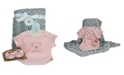3 Stories Trading 3 Stories Baby Boys and Girls 3-Piece Trading Piggy Bodysuit, Slipper and Blankie Gift Set