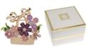 Anne Klein Gold-Tone Multicolor Crystal Flower Basket Pin