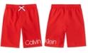 Calvin Klein Big Boys Signature Swim Trunks
