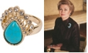 Grace Kelly Collection 18k Gold Plated Drop Ring