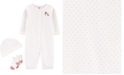 Carter's Baby Girls 3-Pc. Cotton Coverall, Hat & Socks Set