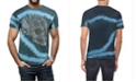 Heads Or Tails Men's Sugar Skull Inspired Graphic Printed Rhinestone Studded T-Shirt