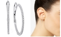 Arabella Swarovski Zirconia Small Hoop Earrings in 14k White Gold