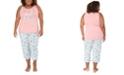Munki Munki Plus Size Pineapple Tank & Capri Pajama Set, Online Only