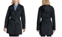 London Fog Double Collar Hooded Water-Resistant Trench Coat, Created for Macy's