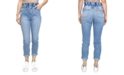 Almost Famous Crave Fame Juniors' Paperbag-Waist Skinny Jeans