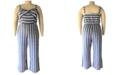 Derek Heart Trendy Plus Size Striped Jumpsuit