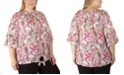 NY Collection Women's Plus Size 3/4 Sleeve Paisley Print Blouse