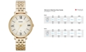 Fossil Jacqueline Gold-Tone Stainless Steel Watch 36mm