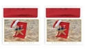 Masterpiece Studios Masterpiece Cards Starfish Santa Holiday Boxed Cards, 18 Cards and 18 Foil Lined Envelopes