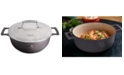 Saveur Selects 3.5-Qt. Cast Iron Saucier with Stainless Steel Lid