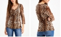 INC International Concepts INC Double-Layer V-Neck Top, Created for Macy's