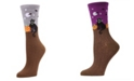 MeMoi Women's Moonlight Cat Halloween Crew Socks