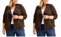 Style & Co Plus Size Faux-Suede Moto Jacket, Created for Macy's