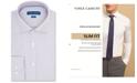 Vince Camuto Men's Slim-Fit Performance Stretch Geo Dobby Dress Shirt
