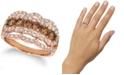 Le Vian Chocolate Diamond (1 ct. t.w.) & Nude Diamond (1 ct. t.w.) Ring in 14k Rose Gold