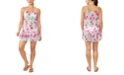 Miken Juniors' Adjustable Floral-Print Cover-Up, Created for Macy's