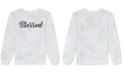 Love Tribe Juniors Graphic Print 'Blessed' Tie Dye Sweatshirt