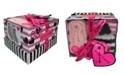 Betsey Johnson Women's Bright Heart Stripe Print Cozy Socks Gift Box, Set of 3