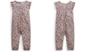 Polo Ralph Lauren Ralph Lauren Baby Girls Floral Flutter-Sleeve Jumpsuit