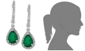 EFFY Collection Brasilica by EFFY® Emerald (1-1/8 ct. t.w.) and Diamond (1/4 ct. t.w.) Drop Earrings in 14k White Gold, Created for Macy's