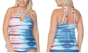 Raisins Curve Trendy Plus Size Rosalie In The Shallows Printed Tankini Top