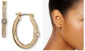 DKNY Crystal Cube Small Hoop Earrings, .9""