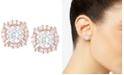 Anne Klein Elevated Crystal Round Stud Earrings