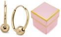 Macy's Children's Bead Hoop Earrings in 14k Gold
