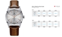 Hamilton Men's Swiss Automatic Spirit of Liberty Brown Calf Leather Strap Watch 42mm H42415551