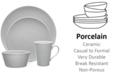 Noritake Grey On Grey Swirl  Porcelain 4-Pc. Coupe Place Setting