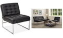Office Star Nevyn Wide Faux-Leather Accent Chair