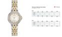 Citizen Women's Eco-Drive Diamond Accent Two-Tone Stainless Steel Bracelet Watch 28mm EM0444-56A