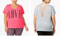 Material Girl Active Plus Size Graphic T-Shirt, Created for Macy's