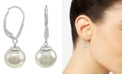 Majorica Sterling Silver Earrings, Organic Man-Made Pearl