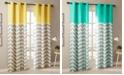 "Intelligent Design Alex 42"" x 63"" Colorblock Chevron Print Insulated Curtain Set"