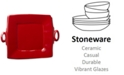 VIETRI Lastra Red Collection Square Handled Platter