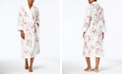 Charter Club Petite Long Printed Contrast Robe, Created for Macy's
