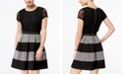Speechless Juniors' Lace Striped Pleated Dress, A Macy's Exclusive