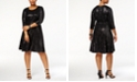 Calvin Klein Plus Size Sequined Fit & Flare Dress, Created for Macy's