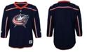 Authentic NHL Apparel Columbus Blue Jackets Blank Replica Jersey, Big Boys (8-20)