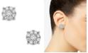 Macy's Diamond Cluster Stud Earrings (1/4 ct. t.w.) in 14k White Gold