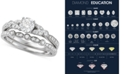 Macy's Diamond Bridal Set (1 ct. t.w.) in 14k White Gold