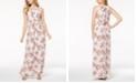 Nine West Floral Printed Halter Maxi Dress