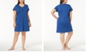 Charter Club Plus Size Printed Cotton Sleepshirt, Created for Macy's
