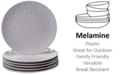 Certified International 6-Pc. Cream Melamine Dinner Plate Set