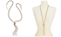 """Charter Club Tri-Tone Multi-Chain Knotted Lariat Necklace, 30"""" + 2"""" extender, Created for Macy's"""